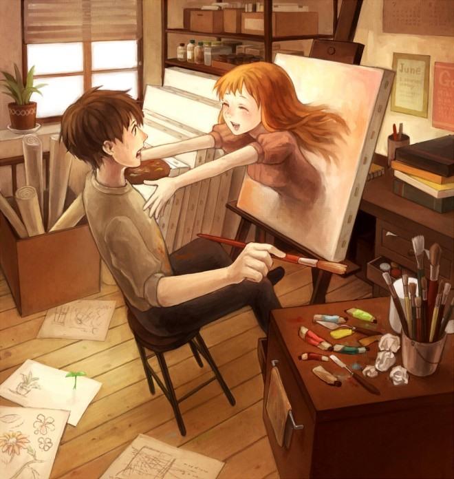 Аниме художник - Аниме картинки