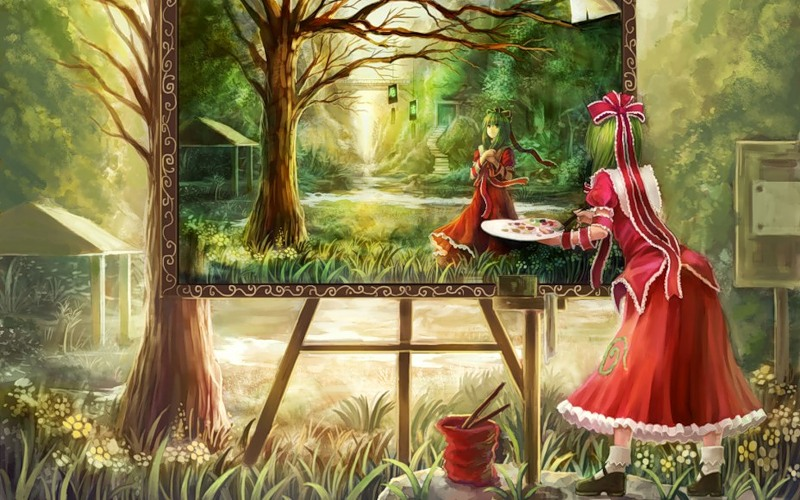 Художница аниме - Аниме картинки