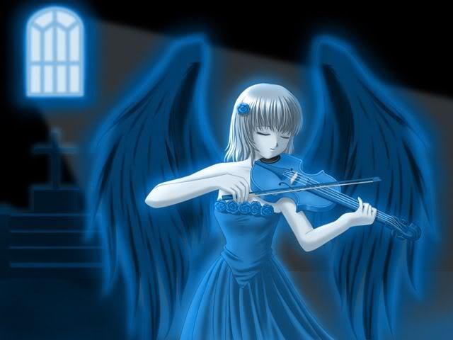 Картинка Аниме скрипачка из коллекции Обои для рабочего стола Аниме картинки