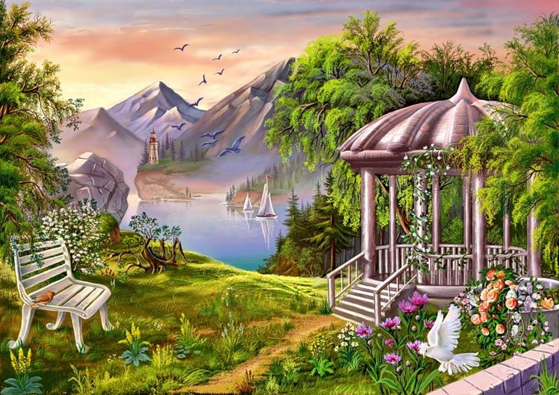 Картинка Райский сад из коллекции Обои для рабочего стола Природа