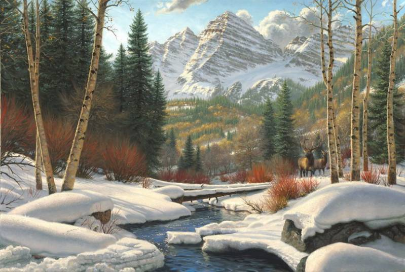 Зима. Оттепель..Природа