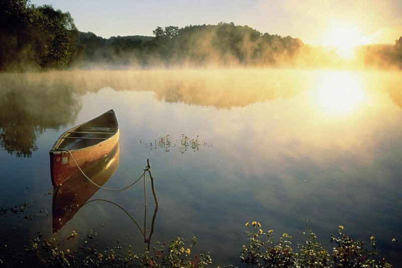 Картинка Туман над рекой из коллекции Обои для рабочего стола Природа