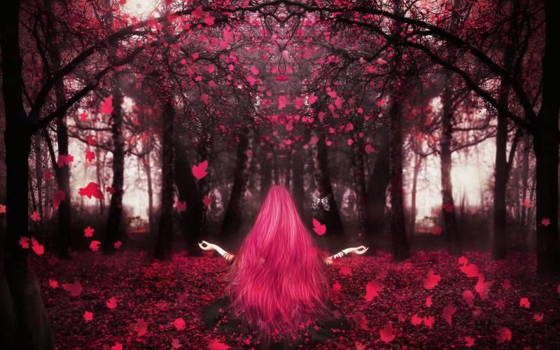 Розовая осень.Природа