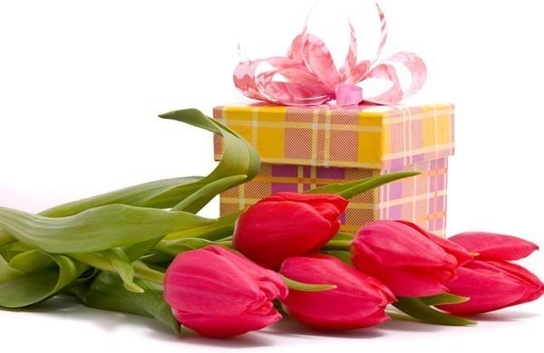 Картинка Цветы и подарок из коллекции Обои для рабочего стола Цветы