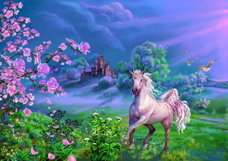 Белый Единорог.Фэнтези