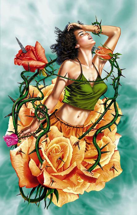 Картинка Девушка в плену! из коллекции Обои для рабочего стола Фэнтези