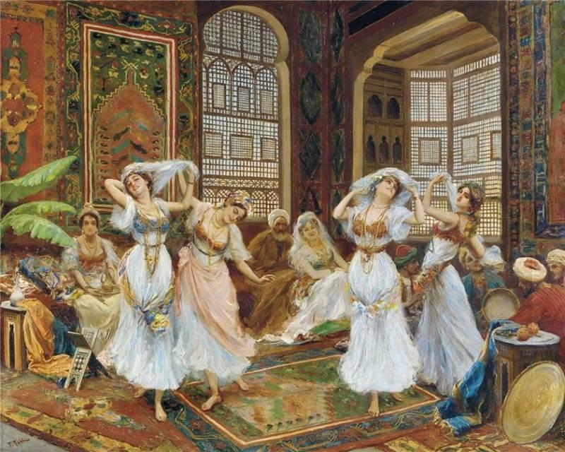 Картинка Танцующие девушки из коллекции Обои для рабочего стола Искусство Живопись
