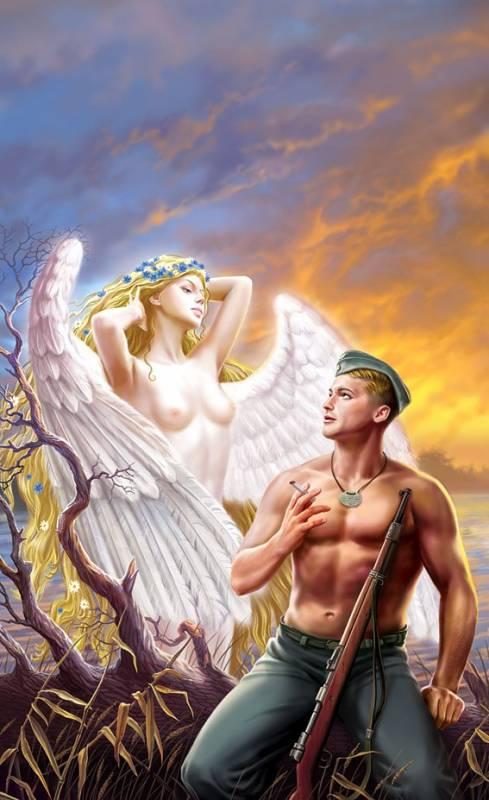 Солдат и девушка.Искусство Живопись