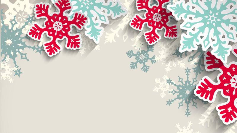 Картинка Новогодний фон снежинки из коллекции Обои для рабочего стола Новогодние обои 2019