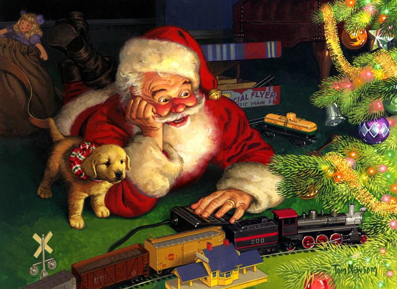 Дед Мороз.Новогодние обои 2018