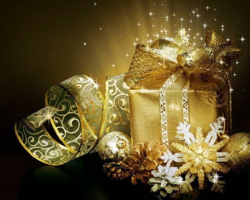 Новогодний подарок - Новогодние обои 2018