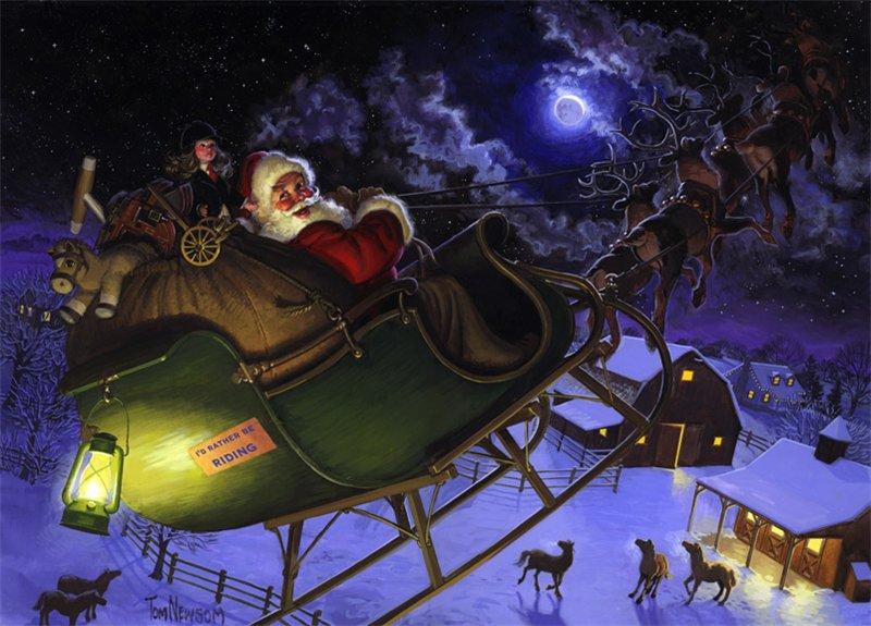 Санта Клаус.Новогодние обои 2017