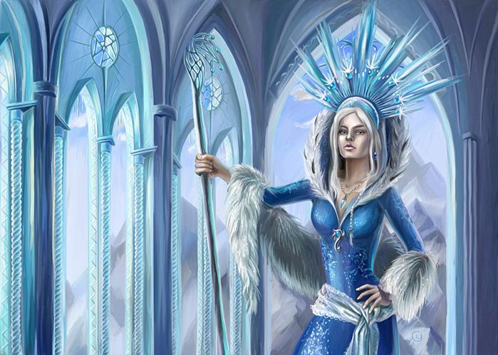 Снежная королева.Новогодние обои 2017
