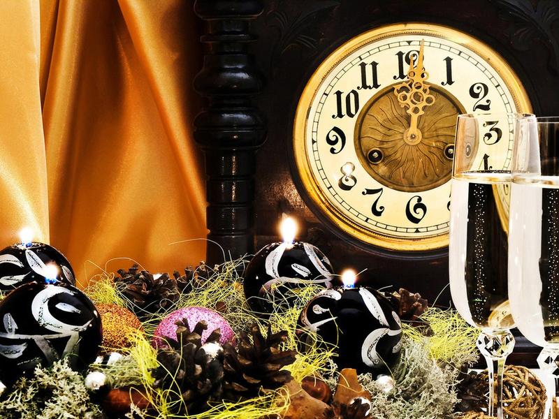 Куранты новогодние - Новогодние обои 2019