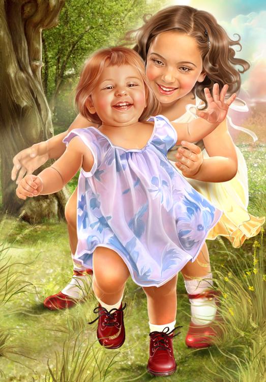 Ребенок и Мама.Иллюстрации