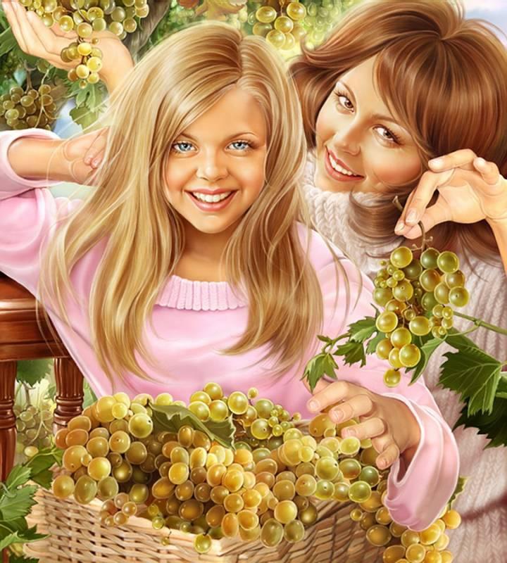 Виноград.Иллюстрации