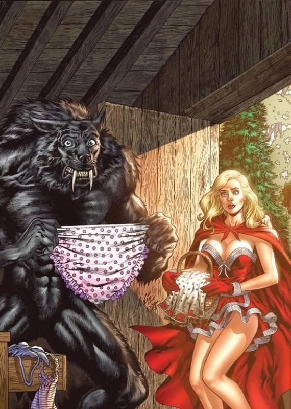 Красная Шапочка и Серый волк.Иллюстрации
