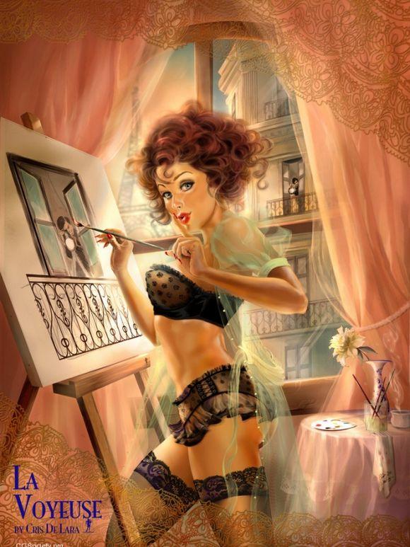 Девушка художник - Иллюстрации