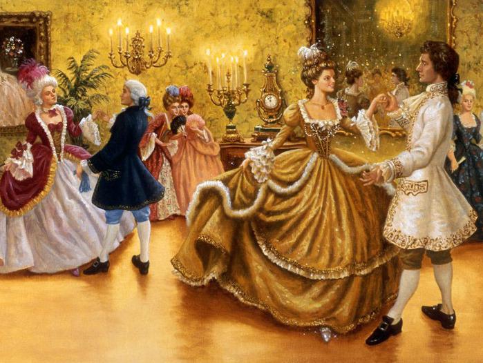 Картинка Золушка и Принц из коллекции Обои для рабочего стола Иллюстрации