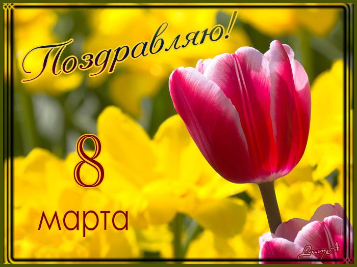 Поздравляю с 8 Марта - Открытки