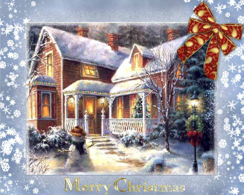 счастливого Рождества.Открытки