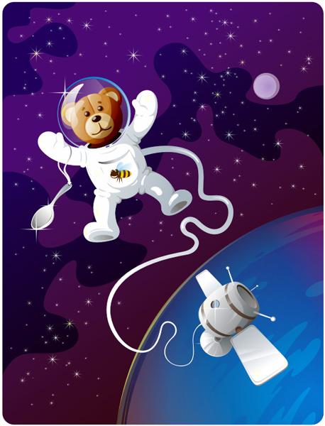 Прикольные рисунки на день космонавтики, открыток