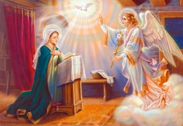 с Благовещением Пресвятой Богородицы! - Религиозные открытки
